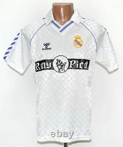 Real Madrid Spain 1989/1990/1991 Home Football Shirt Jersey Hummel Size S Adult