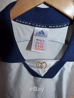Real Madrid Spain 1998/1999 Teka Football Shirt Jersey Adidas #3 Roberto Carlos
