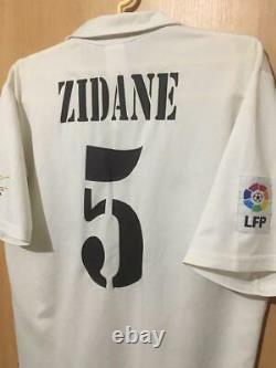 Real Madrid Spain 2002/2003 Home Football Shirt Jersey Camiseta Vtg Zidane #5
