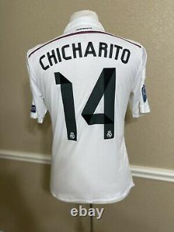 Real Madrid Spain Chicharito Mexico LA Galaxy Player Issue Shirt Adizero Jersey