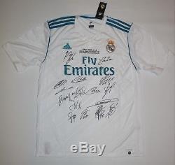 Real Madrid Team + Cristiano Ronaldo Signed Adidas Final Kyiv Jersey COA trikot
