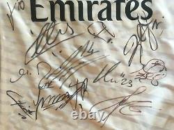 Real Madrid Team Signed Jersey Ronaldo+ramos+benzema+casillas+modric+bale+varane