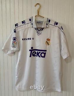 Real Madrid Teka Kelme Offica Made In Spain Shirt Jersey Polo Size Small