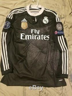 Real Madrid Yamamoto LS Adizero 2014 Third Jersey Sergio Ramos Size 8
