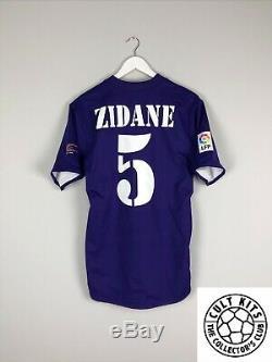 Real Madrid ZIDANE #5 02/03 Centenary Third Football Shirt (M) Jersey Top Adidas