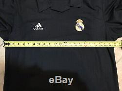 Real Madrid Zidane France Football Player Issue Jersey Climalite Liga Shirt