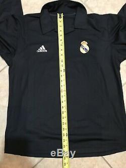 Real Madrid Zidane France Football Player Issue Jersey Climalite Liga Shirt