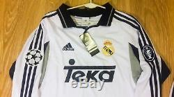 Real Madrid rare vintage M size jersey 2001 Long sleeve + shorts