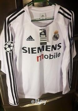 Real Madrid rare vintage M size jersey 2003/4 Long sleeve Zidane