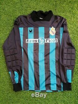 Real madrid 1989 1990 goalkeeper shirt jersey camiseta Reny picot portero buyo