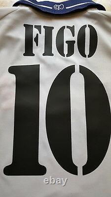 Real madrid Figo camiseta maglia vintage adidas Teka RMFC home jersey LFP