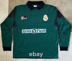 Real madrid goalkeeper jersey 80's Buyo 100# Original Spain Match Worn Maglia #1