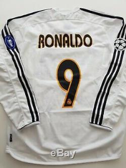 Real madrid jersey 2004 signed shirt zidane, ronaldo, Beckham, raul jersey COA