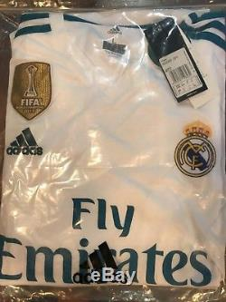 7c936c13 Real madrid jersey home kit 2017 2018 ronaldo Size L champions league  patches