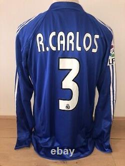 Roberto Carlos Real Madrid Match Worn shirt Liga 04/05 Brasil jersey Camiseta