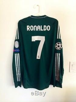 Ronaldo, 2012-13 Real Madrid Ls Away Champions League Match Un Worn Shirt