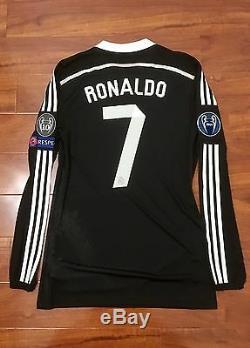 Ronaldo, 2014 Real Madrid Third LS CL Adizero Match Issue Shirt Size 8 Adidas Y3