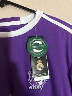 Ronaldo #7 Real Madrid 2016/17 Small L/S Away Football Shirt Jersey Adidas BNWT