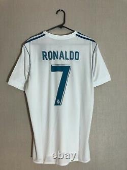 Ronaldo #7 Real Madrid 2017/18 Home Large Football Shirt Jersey Adidas BNWT
