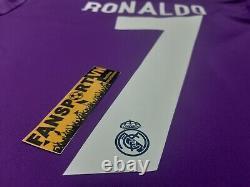 Ronaldo 7 Real Madrid Champion League Final 2017 away shirt jersey 2016 + medal