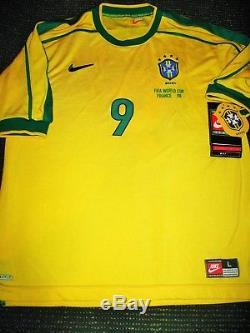 Ronaldo Brazil 1998 WC Jersey Shirt Camiseta Barcelona Real Madrid Maglia L BNWT