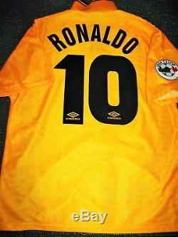 hot sale online 9b4f9 4d6cd Ronaldo Inter Milan 1997 1998 DEBUT Jersey Maglia Shirt Real ...