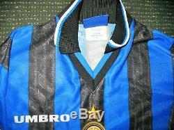 Ronaldo Inter Milan 1997 1998 DEBUT Jersey Shirt Maglia Real Madrid Barcelona L