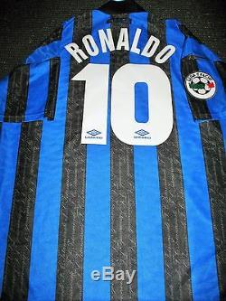 the latest 77a05 a429d Ronaldo Inter Milan 1997 1998 DEBUT Jersey Shirt Maglia Real ...