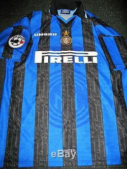 Ronaldo Inter Milan 1997 1998 DEBUT Jersey Shirt Maglia Real Madrid Barcelona XL