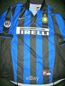 Ronaldo Inter Milan 1998 1999 Jersey Shirt Maglia Real Madrid Barcelona L