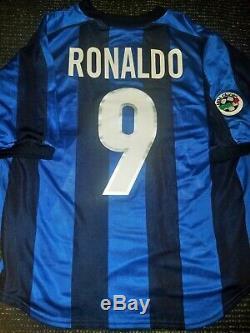 Ronaldo Inter Milan 1999 2000 Jersey Shirt Maglia Real Madrid Barcelona M