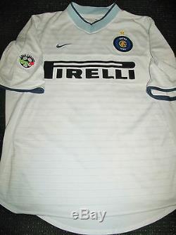 Ronaldo Inter Milan 2000 2001 Jersey Shirt Maglia Real Madrid Barcelona Brazil L