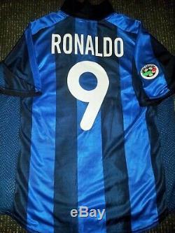 Ronaldo Inter Milan 2001 2002 Jersey Shirt Maglia Real Madrid Barcelona XL