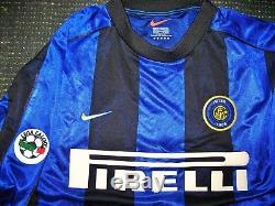 Ronaldo Inter Milan Nike 1999 2000 Jersey Shirt Maglia Real Madrid Barcelona M