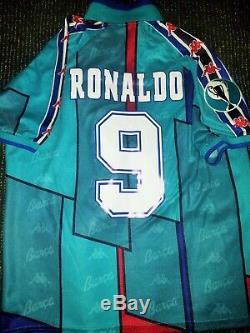 Ronaldo Kappa Barcelona UEFA CUP Jersey 1996 1997 Shirt Inter Real Madrid M