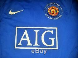 Ronaldo Manchester United UEFA 2008 2009 Blue Jersey Real Madrid Juventus Shirt