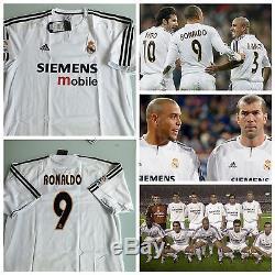 Ronaldo Real Madrid 2002/03 Jersey Camiseta Shirt Zidane Beckham Bale Ramos Raul
