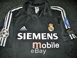Ronaldo Real Madrid UEFA Jersey 2002 2003 Maglia Camiseta Maillot Shirt Brazil M