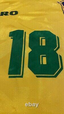 Ronaldo brasil jersey #18 Brazil Real Madrid 1996 100% Authentic Original
