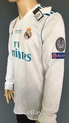 Ronaldo name set Real Madrid shirt jersey Adidas final Kiev champions long sleev