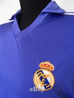 SANCHEZ #9 Real Madrid Adidas Originals Away Football Shirt Jersey 1985/86 (L)