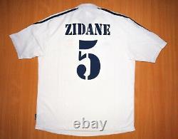 Sale ZIDANE CHAMPIONS L Real Madrid shirt CL CENTENARY 2001 jersey soccer camisa