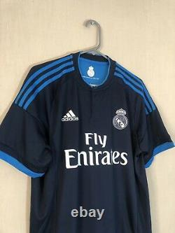 Sergio Ramos #4 Real Madrid 2015/16 Large 3rd Shirt Jersey Adidas BNWT