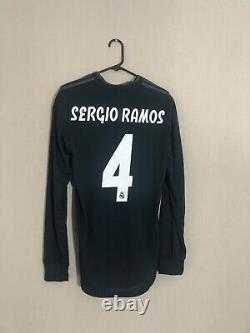 Sergio Ramos #4 Real Madrid 2018/19 Medium Authentic Away L/S Shirt Jersey BNWT