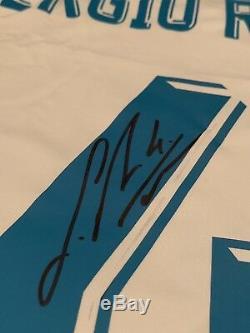 Sergio Ramos Autographed/Signed Jersey Beckett COA Real Madrid