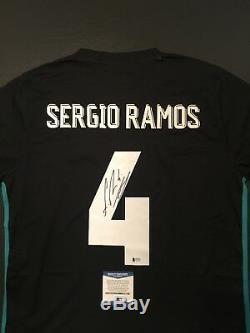 Sergio Ramos Real Madrid Autographed XL Jersey BAS Beckett Certified (JSA PSA)