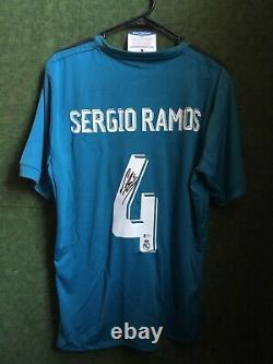 Sergio Ramos Real Madrid Signed Adidas Jersey Beckett Autographed COA