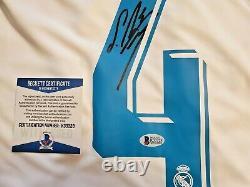 Sergio Ramos Real Madrid Signed Adidas Jersey Beckett Witnessed Autographed COA