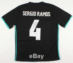 Sergio Ramos Signed Real Madrid Adidas 2017 FIFA Black Jersey (Beckett COA)