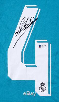 Sergio Ramos Signed Real Madrid Adidas 2017 FIFA Blue Jersey (Beckett COA)